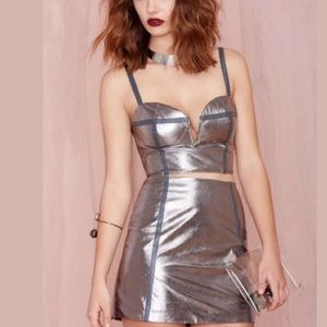 Nasty Gal | Metallic Mini Skirt